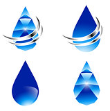 Abstract Water Drop Set