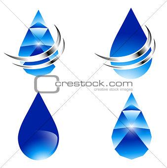 Abstract Water Drop Set