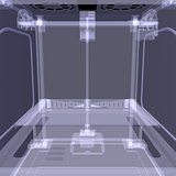 3d printer. X-ray render