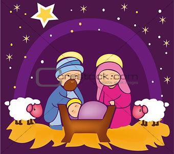 Baby Jesus in a manger 4
