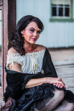 Saloon Girl Portrait