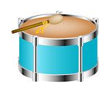 Drum instrument with drumstick