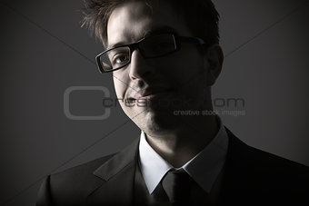 Portrait of smart young business man