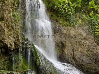 Waterfall near the beautiful village Krushuna in Bulgaria