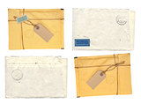 Set of old envelopes