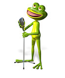 Frog with microphone