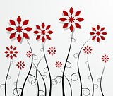 Decorative Red Flowers