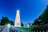 The Ocracoke Lighthouse on Ocracoke Island on the North Carolina