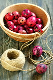 Pink easter eggs.