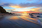 Magnificent sunrise morning at the beach Australia