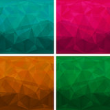 Set of abstract modern style triangle backgrounds. Vector illustration.