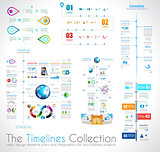 Timeline Infographic design template with paper tags.