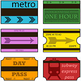 Vintage subway tickets