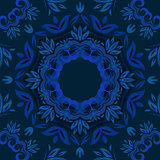 Abstract blue floral repeating background