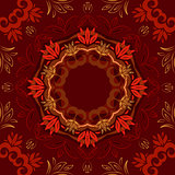 Abstract red floral repeating background