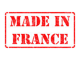 Made in France - inscription on Red Rubber Stamp.