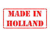 Made in Holland - inscription on Red Rubber Stamp.