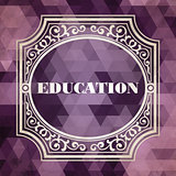 Education Concept. Purple Vintage design.