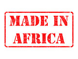 Made in Africa - inscription on Red Rubber Stamp.