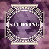 Studying Concept. Purple Vintage design.