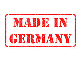 Made in Germany- inscription on Red Rubber Stamp.