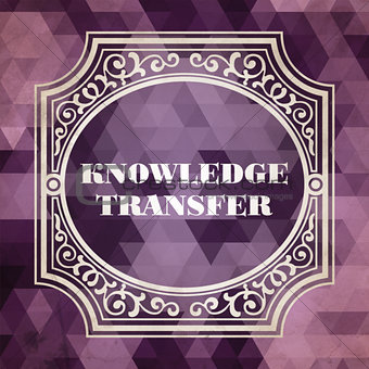 Knowledge Transfer Concept. Vintage design.