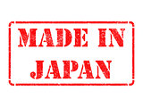 Made in Japan - inscription on Red Rubber Stamp.