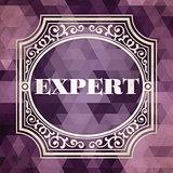 Expert Concept. Purple Vintage design.