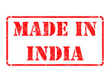 Made in India - inscription on Red Rubber Stamp.