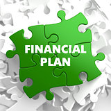 Financial Plan on Green Puzzle.