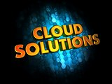 Cloud Solutions on Digital Background.