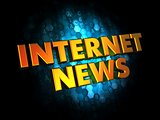 Internet News on Digital Background.