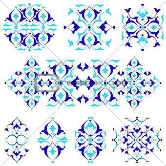 blue oriental border and ornament nineteen