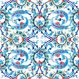 blue oriental ottoman design forty