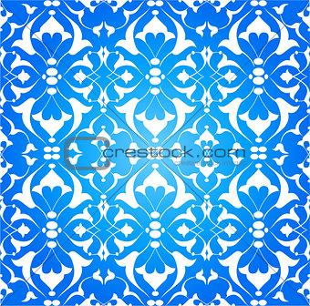blue ottoman decorative background version one
