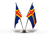 Miniature Flag of Aland Island