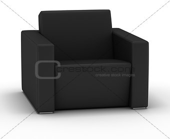 Single Leather Armchair