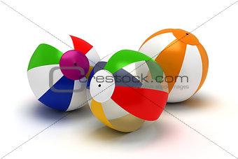 Three Beach Balls