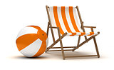 Beach Chair and Beach Ball