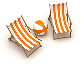 Beach Chairs and Beach Ball