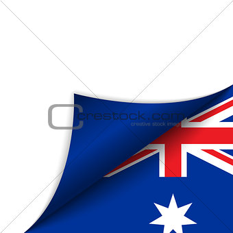 Australia Country Flag Turning Page