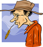 country farmer cartoon illustration