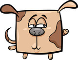 square dog cartoon illustration