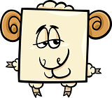 square ram cartoon illustration