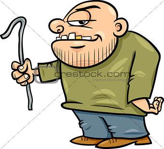 thug with jemmy cartoon illustration