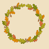 Wreath of oak leaves