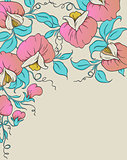 Background with pink sweet pea