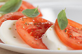 light traditional caprese salad