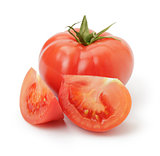 ripe red tomatoes with slices