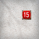 Number 15 on a wall